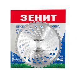 Диск до садового тримера 255х25.4 мм 40 ТВС зубців Зенит упаковка конверт